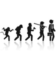 Evolution of the man Stick Figure Pictogram Icon vector image