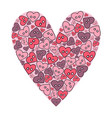 hand drawn sewing buttons in the shape of a heart vector image vector image