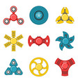 hand fidget spinner extra colorful icon set vector image vector image