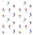 happy skiers vector image