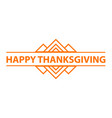 Happy thanksgiving day logo simple style