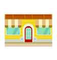 icon of the chalet facade of the building with a vector image vector image