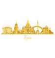 kiev ukraine city skyline golden silhouette vector image vector image