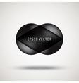 Luxury black bubble badge vector image vector image