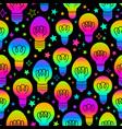 multicolored rainbow festive pattern light vector image