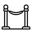 museum barrier icon outline style vector image vector image