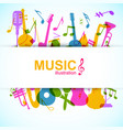 music design background vector image vector image