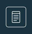 notepad icon line symbol premium quality isolated vector image
