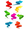 Origami arrow banners vector image vector image
