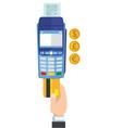 payment credit card terminal vector image