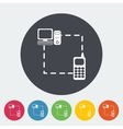Phone sync single flat icon vector image vector image