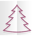 Pink Sequins Christmas Tree Winter New Year vector image vector image