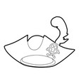 pirate hat icon outline vector image