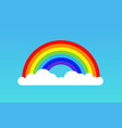 Rainbow cloud icon rainbow