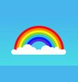 rainbow cloud icon rainbow vector image
