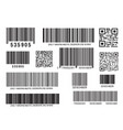 realistic bar code icon a modern simple flat vector image vector image