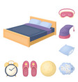rest and sleep cartoon icons in set collection for vector image
