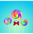 Rollipop candy colorful with background vector image
