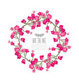 roses floral wreath vector image