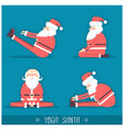 santa claus doing yoga isolated for vector image vector image