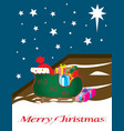 santa sleigh full of gifts outside vector image