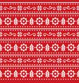 scandinavian christmas seamless pattern vector image vector image