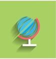 School globe flat design vector image