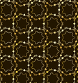 Seamless elegant gold pattern vector image