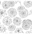seamless pattern with lily chrysanthemum rose vector image vector image