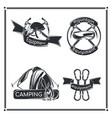 set camping emblems vector image