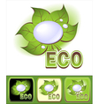 Set Ecologic icons with leaves and water droplets vector image vector image