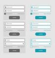 set member login page design elements vector image