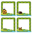 set of insect nature border vector image vector image