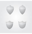 set of modern gray glass shields vector image