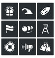 Set of Rescue on Water Icons Life Jacket vector image vector image