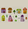 set of stickers of stylized isolated fairy-tale vector image vector image