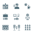 solid grey color conference concept icons vector image vector image