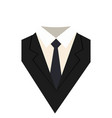 suit icon isolated on white background vector image vector image