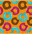 tasty bake donut seamless food background vector image vector image