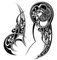 tattoo arm vector image vector image