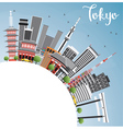 Tokyo Skyline with Gray Buildings vector image vector image