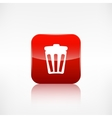 trash can icon recycle symbol waste container vector image