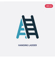 two color hanging ladder icon from tools vector image vector image