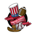 usa entertainment emblem vector image