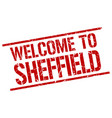 welcome to sheffield stamp vector image vector image