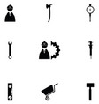 worker tool icon set vector image vector image