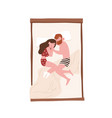 young man and woman lying face to face in bed and vector image vector image