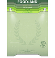 Eco food background vector image