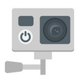 action camera flat icon device and electronic vector image vector image