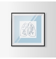Anatomical lungs sketch in a frame vector image